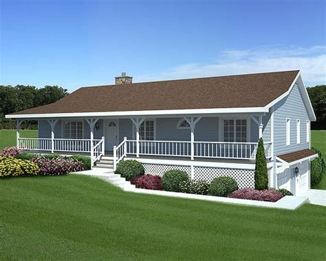 raised ranch home plans raised ranch with off center entry and shed roof porch