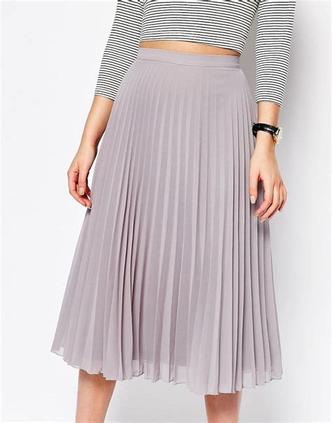 Pleated Chiffon Skirt chiffon pleated midi skirt fashion skirts