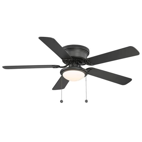 Hugger 52 In Black Ceiling Fan Al383 Bk The Home Depot