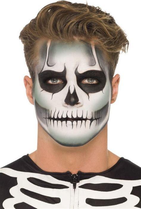 maquillaje para hombres esqueleto maquillaje de halloween para hombres moderno y elegantes
