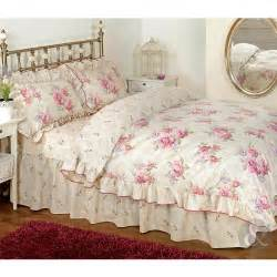 Amazon Duvet Covers Queen Vintage Floral Frilled Duvet Cover Cream Beige Pink