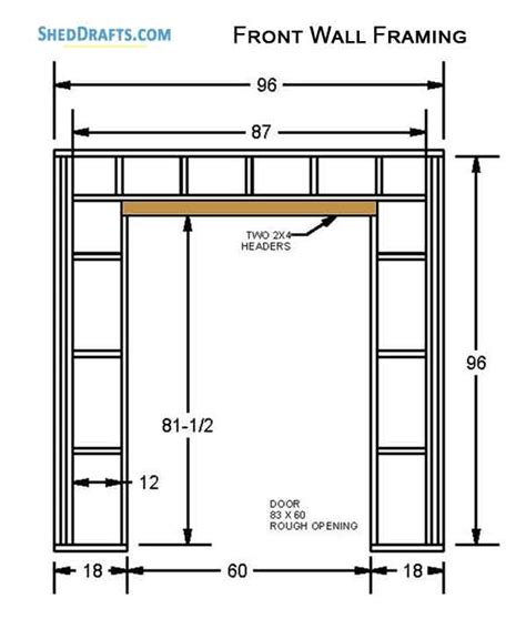 saltbox storage shed plans blueprints  erecting