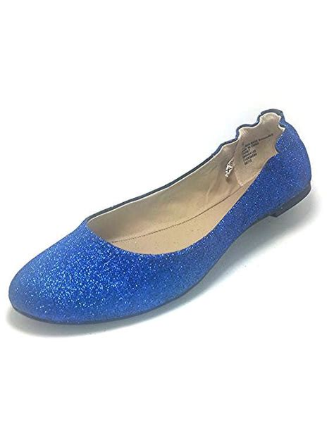 blue glitter flat shoes glitter flat shoes lighter blue with a bow in the back