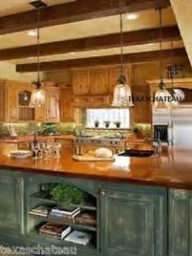 Country Kitchen Island Lighting 1 Country Bronze Glass Kitchen Island Light Fixture Pendant New Ebay