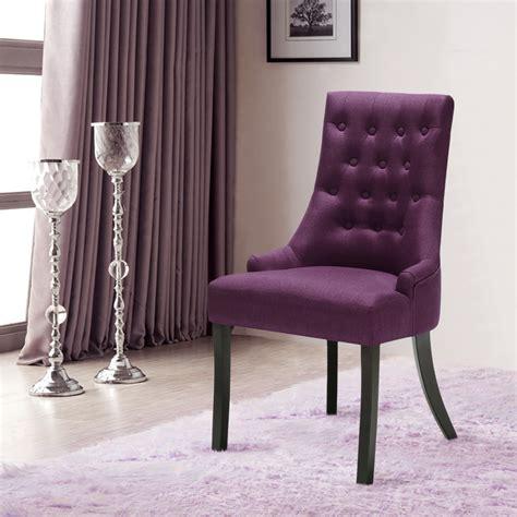 Purple Fabric Dining Room Chairs Purple Ikayaa Accent Linen Fabric Dining Room Chair