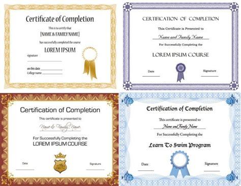 certificate template vector certificate design templates free vector 13 208