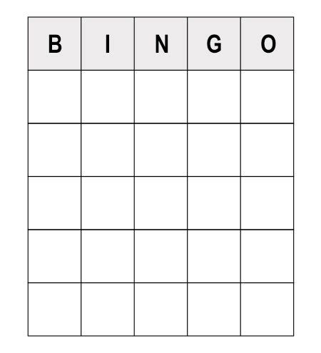 bingo standard card template read these numerous sle questions to play human bingo