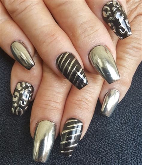 sexy chrome nail art designs