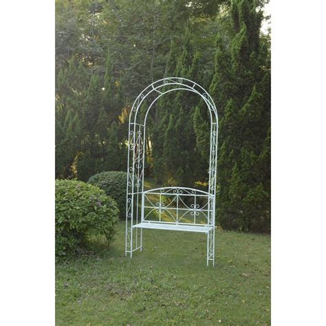 garden bench with arch buy country cream garden arch bench online at cherry lane
