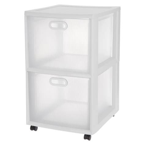 sterilite white 6 drawer cart sterilite 174 ultra 2 drawer storage cart white target