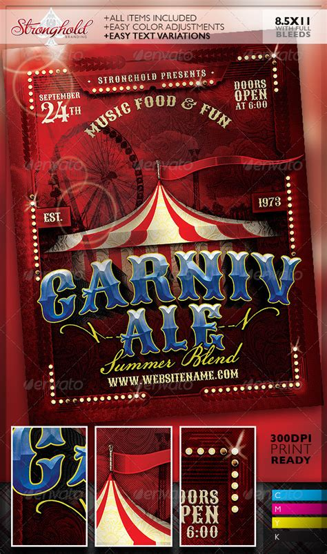 Circus Flyer Template by Best Circus Carnival Flyer Templates Strongholdbrand