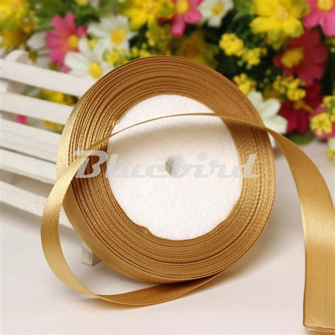 diy decorations ribbon gold 3 8 10mm wide wedding craft craft satin ribbon sold ᗛ