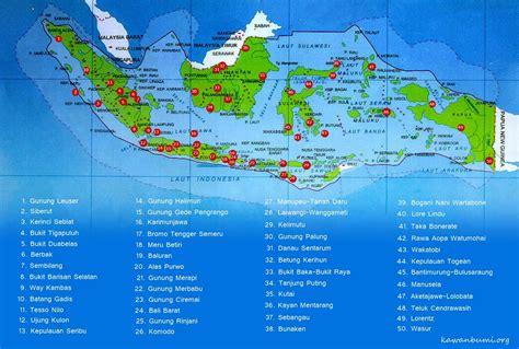 yang dilarang di indonesia peta taman nasional di indonesia
