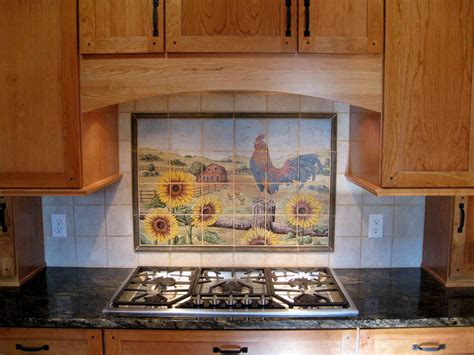 harrell s farm rooster kitchen tile mural backsplash