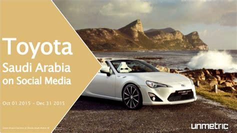 Toyota Saudi Arabia Toyota Saudi Arabia Social Media Analysis Q4 2015