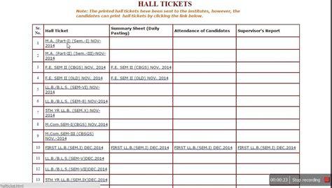 Mumbai University Hall Ticket / Hall Ticket 2015 - YouTube