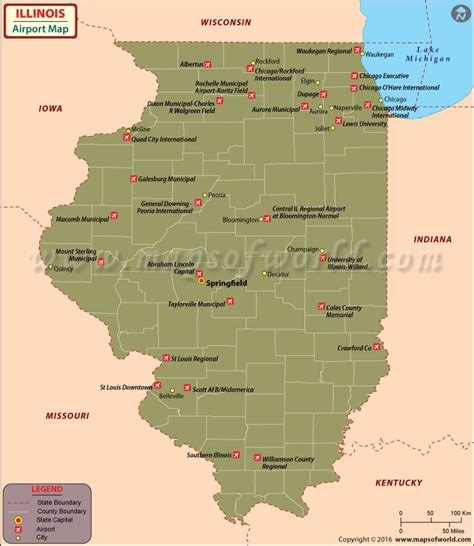 map of usa airports illinois airports map airports in illinois map