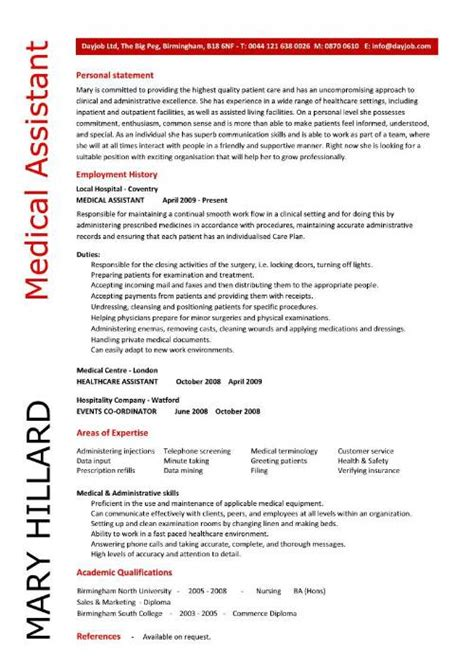 medical administrative assistant resume medical administrative