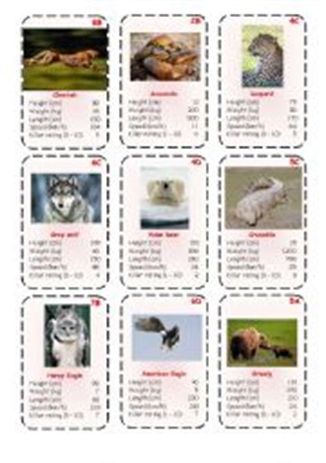 printable animal top trumps top trump cards predators 2 3