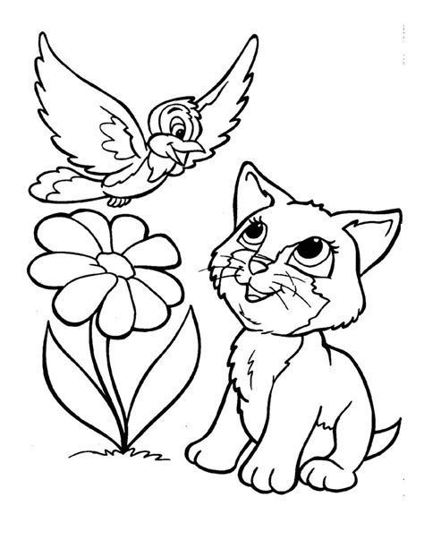free online coloring pages of cats lovely kitten coloring pages