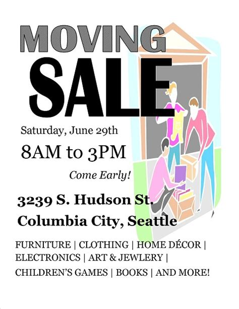 moving flyer template moving sale spread the word