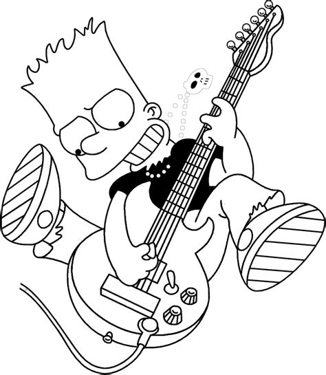 bart simpson skateboarding coloring pages coloring pages