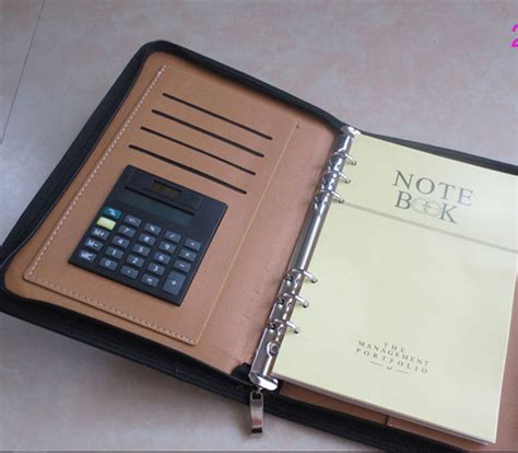 Buku Catatan Binder Note Cover Kulit With Kalkulator buku catatan binder note cover kulit with kalkulator brown jakartanotebook