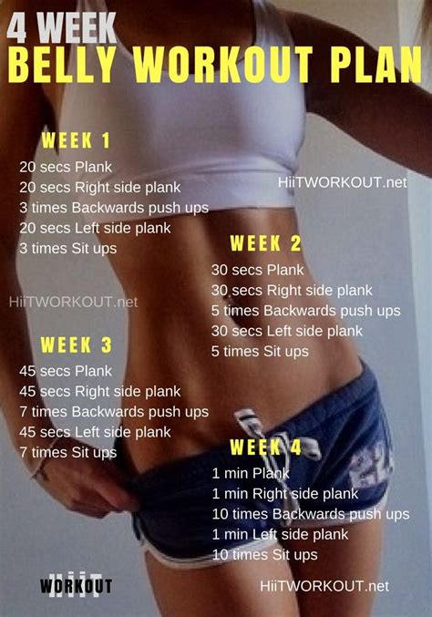 best 25 4 week workout plan ideas on daily