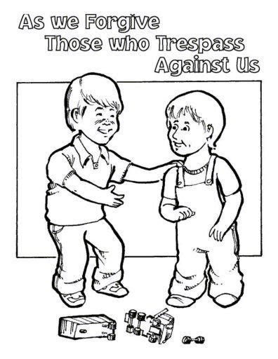 coloring pages jesus forgives free lord s prayer coloring pages for children and parents