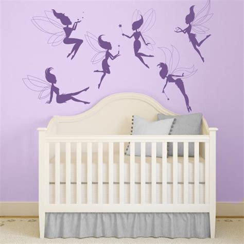 fairy wall decals fairy silhouette stickers wall decal
