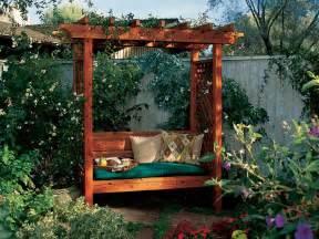 Garden Bench With Trellis How To Build A Garden Arbor Bench Sunset