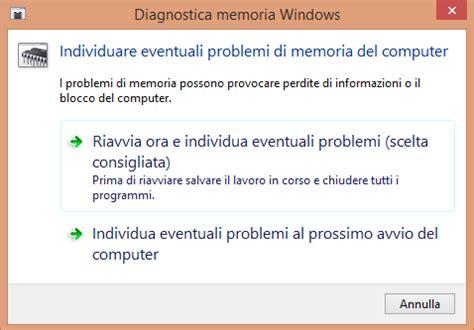 test della ram testare la memoria ram pc da windows ilsoftware it
