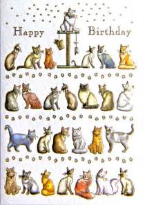 cat gifts and cards mini cards cats birthday card