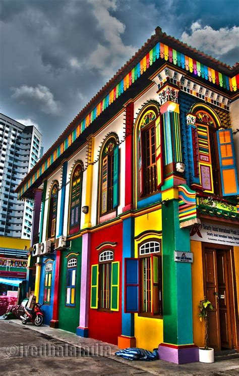 colorful buildings colorful buildings in india singapore cool places