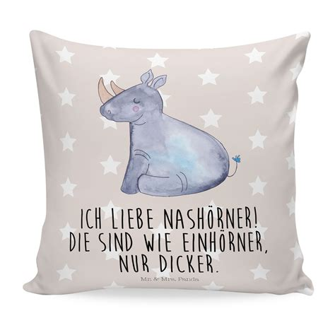 Kissenbezug Flauschig by 40x40 Kissen Einhorn Nashorn Aus Soft Feel Kissenbezug