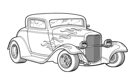 hot rod cars coloring pages pin hot rod coloring sheets on pinterest