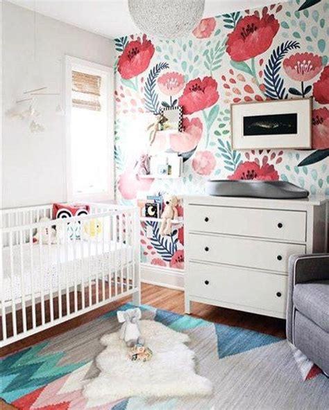 vintage poppy flower wallpaper nursery wallpaper