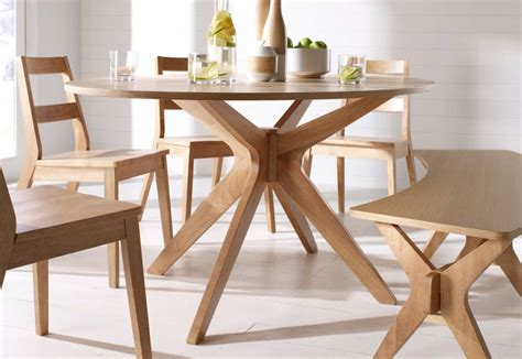 Round Wood Dining Room Tables lpd furniture malmo oak dining collection scandinavian