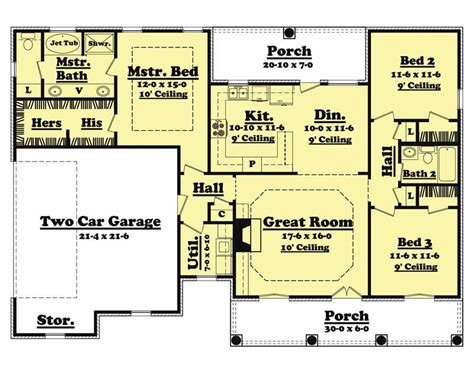 3 bedrm 1500 sq ft european house plan 142 1009