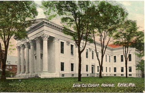 Erie County Court Records Erie County Court House Erie Pa Postcard Ebay