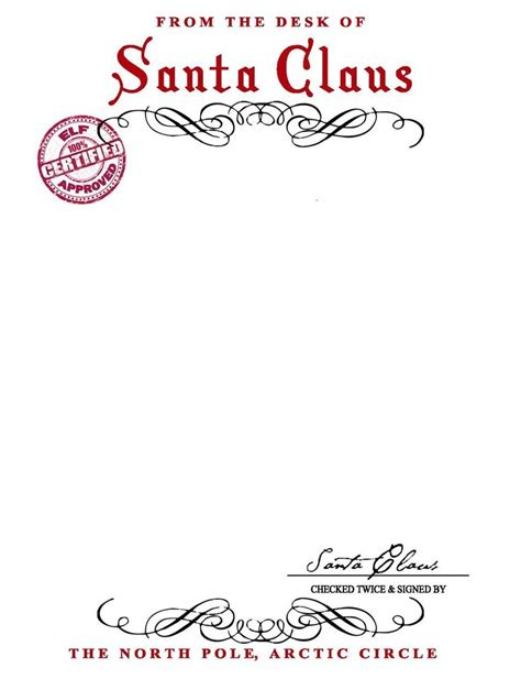 Santa Claus Letter Template Invitation Template Letters From Santa Templates