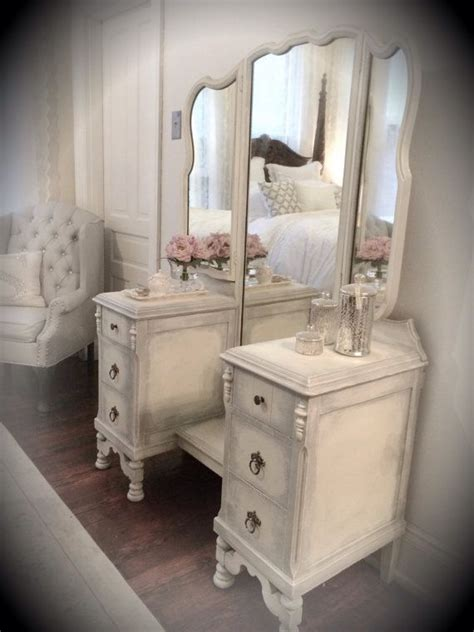 white vanity dresser with mirror antique white vanity vintage cottage french country