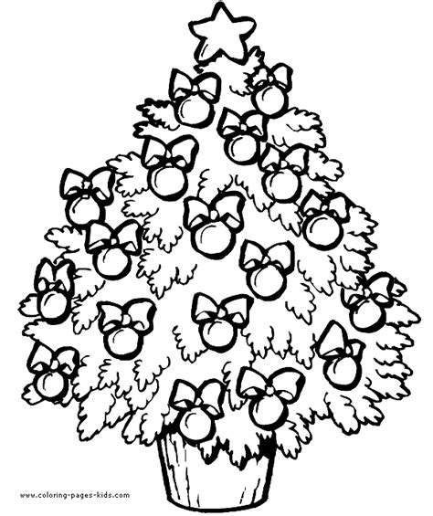 Decorated Christmas Tree Coloring Pages Decorated Tree Coloring Page