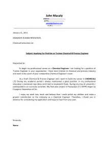 Process Engineer Cover Letter by Application Letter Engineer