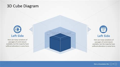 powerpoint cube template concentric 3d cubes for powerpoint slidemodel