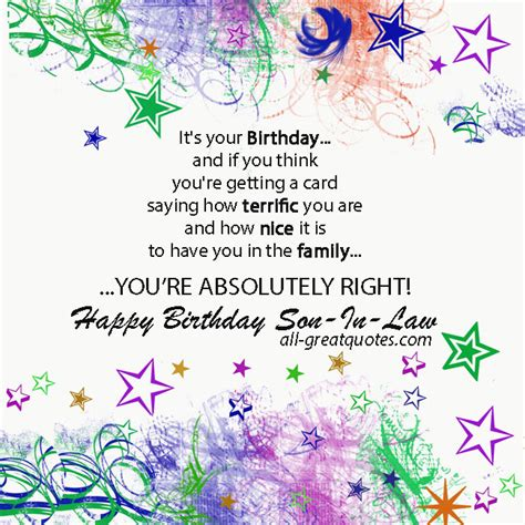 free printable anniversary cards for son and daughter in law son in law quotes nice quotes pinterest free