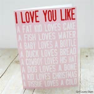 Love you like printable valentine cards girl loves glam