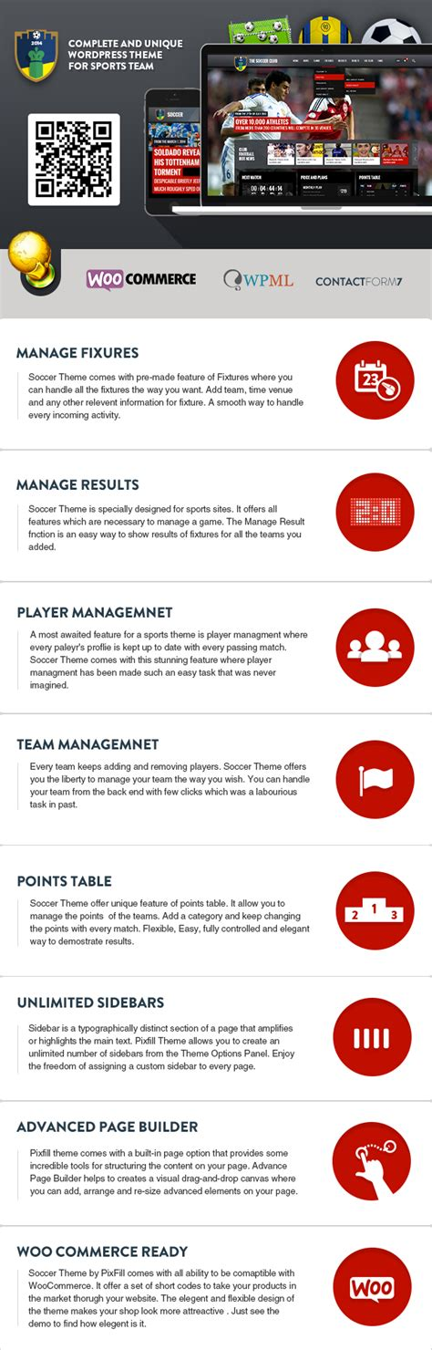event listing website template soccer club sports and events news theme nonprofit