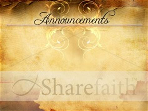 free powerpoint templates for church announcements parchment design church announcement template church