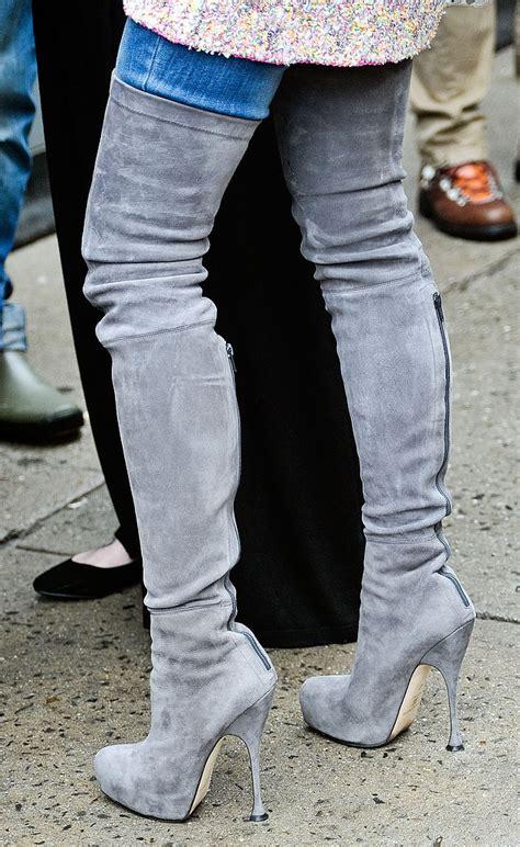 miroslava duma thigh high suede boots made one showpiece